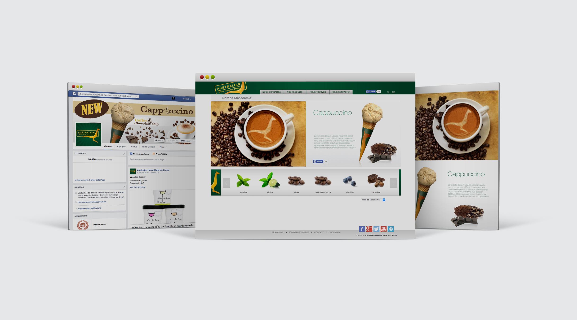 Australian ice cream web design 1